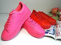 Женские кроссовки слипоны кеды криперы мокасины - розовые.