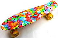 "Пенни Борд Penny Board ""Caramel"" Светящиеся колеса"