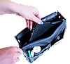 Органайзер для сумки ORGANIZE украинский аналог Bag in Bag (серый), фото 4