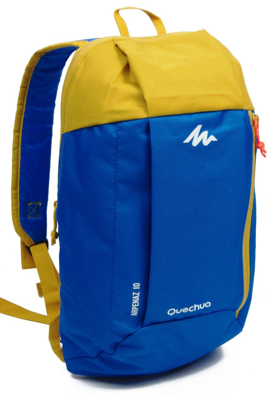 Рюкзак городской, туристический Quechua ARPENAZ 10 л. 2187433 синий с желтым