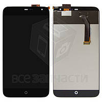 Дисплей для мобильного телефона Meizu MX3, черный, с сенсорным экраном, original (PRC)