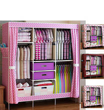 Мобильный многофункциональный шкаф для хранения вещей Storage Wardrobe YQF130-14A // YQF130-14A 519
