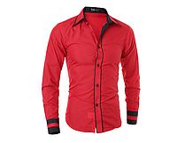 Мужская красная классическая рубашка