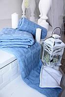 Детский вязаный плед для детской кроватки с натуральной подкладкой, фото 1