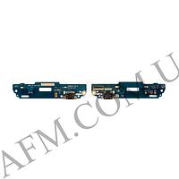 Шлейф (Flat cable) HTC 601 Desire с гнездом на зярядку и микрофоном