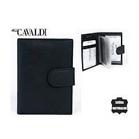 Визитница-документница с застежкой на кнопке кожаная, кожаные изделия CAVALDI