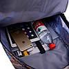 Городской рюкзак Vans голубой со звездами (реплика), фото 3