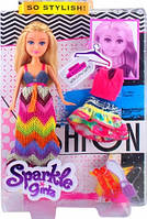 Кукла-модница Мэри Funville Sparkle girlz в длинном платье с доп. нарядом (FV24486-1)