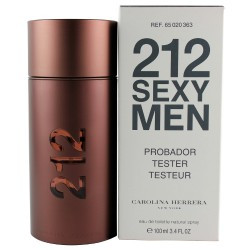 Тестер туалетная вода мужская Carolina Herrera 212 Sexy Men (Каролина Херера 212 Секси Мэн) 100 мл