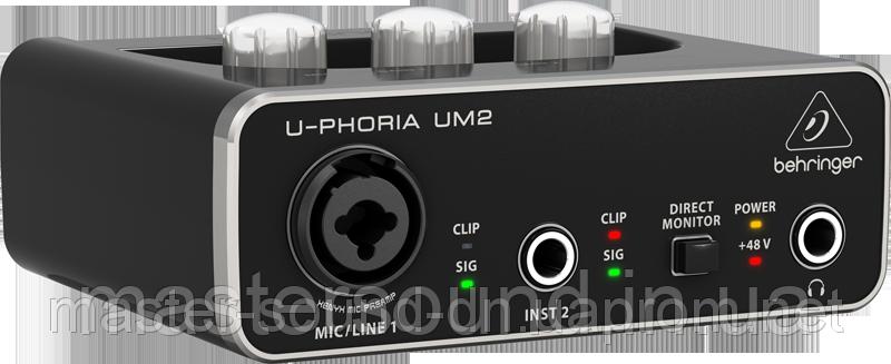 Звуковая карта Behringer U-PHORIA UM2