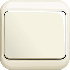 Выключатель одноклавишный проходной + рамка. ABB Alpha