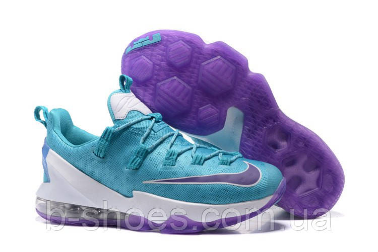 Мужские баскетбольные кроссовки Nike LeBron 13 Low (Blue/White/Purple)
