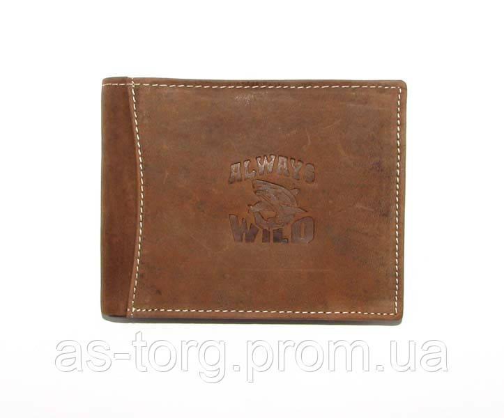 Брендовые кошельки мужские кожаные Always Wild, кошелек кожа , фото 1 c63f1704488
