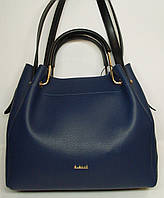 """Женская кожаная сумка """"B'Elit"""" синего цвета"""