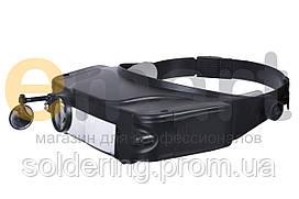 Лупа бинокулярная с LED подсветкой 1.5Х 3Х 9.5Х 11Х увеличения Magnifier 81007C
