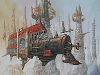 """Схема для вышивания """" Небесный локомотив """""""