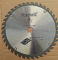 Круг отрезной по дереву с твёрдосплавной напайкой Master 230/22 мм