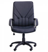 Кресло Менеджер TB-9056 НВ кожзам Неаполь-20 черный (TB-9056 PU+PVC BLACK)., фото 3