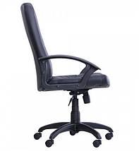 Кресло Менеджер TB-9056 НВ кожзам Неаполь-20 черный (TB-9056 PU+PVC BLACK)., фото 2