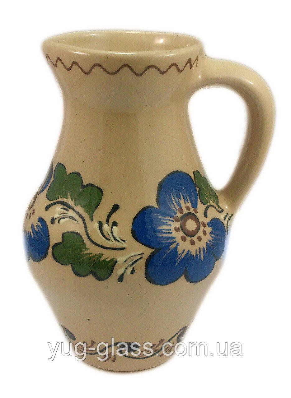 """Глечик """" Капелька"""" 1950 мл глиняний (глазурований) в асортименті, фото 1"""