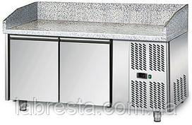 Стол холодильный для пиццы GGM POS158 (ширина 800мм, направляющие под противни 600х400)