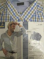 Рубашка в клетку мужская Tchibo Германия XL 43/44