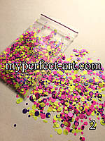 Камифубуки (конфетти)для дизайна ногтей №2