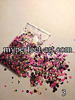 Камифубуки (конфетти) для дизайна ногтей  №3
