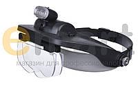 Лупа бинокулярная с LED подсветкой 1.2X — 6X увеличения Magnifier 81001-E