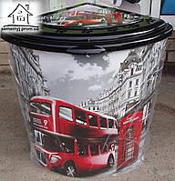 Корзина/Бак для белья Elif Plastik угловой Лондон