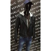 Куртка-косуха кожаная мужская демисезонная GS 072036614