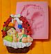 """Молд силиконовый """"Младенец в корзинке"""" 7,5 см 8 см, фото 2"""