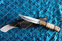 Нож охотничий  ,интересная рукоять ,отличное качество .