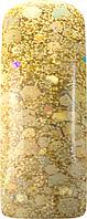 Акриловая пудра цветная для дизайна ногтей 15 гр., Цвет: Праздничный золотой, Pro Formula Fiesta Gold