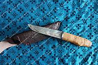 Нож охотничий ,рукоять береста ,стильный и удобный