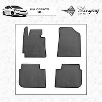 Коврики резиновые в салон Kia Cerato c 2012 (4шт) Stingray