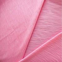 Трикотажное полотно кулир (кулирная гладь) фламли хлопок пенье 30/1, розовый
