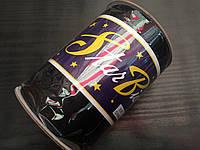 Косая бейка атласная, 15мм, цвет черный/100м в бобине