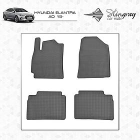 Коврики салона Hyundai Elantra AD 2015- (4 шт.) Stingray 1009134
