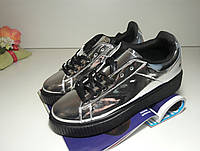 Кроссовки криперы слипоны кеды мокасины ботинки женские - серебряные