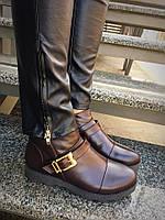 Кожаные ботинки(горький шоколад)