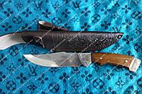 Нож охотничий Беркут ручной работы в комплекте кожаный чехол и экспертиза