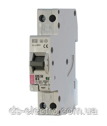 Диффер. автоматический выкл. KZS-1M B 20/0,03 тип A (6kA) (нижн. подключ.)