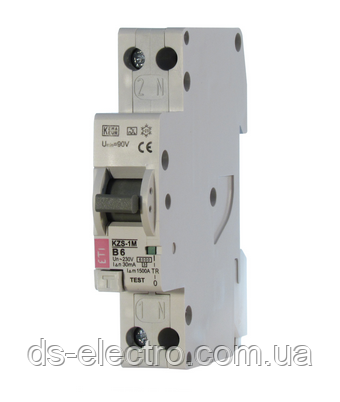 Диффер. автоматический выкл. KZS-1M C 10/0,03 тип A (6kA) (нижн. подключ.)