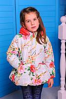 Куртка цветочный принт для девочек