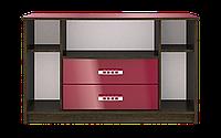 Тумбочка под телевизор или аудио аппаратуру, прямая, оригинальная, размером 67х53х110  Магнат Нова РТВ