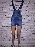 Женский джинсовый комбинезон шортами Dzire (код 8085)