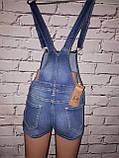 Женский джинсовый комбинезон шортами Dzire (код 8085), фото 3
