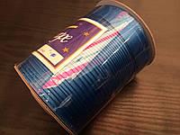 Косая бейка атласная, 15мм, цвет т-бирюза /100м в бобине