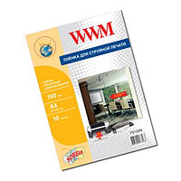 Пленка WWM, самоклеящаяся, прозрачная, 150 мкм, A4, 10л (FS150IN)